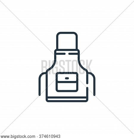 apron icon isolated on white background from sewing collection. apron icon trendy and modern apron s