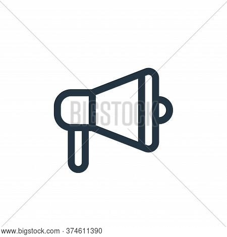 megaphone icon isolated on white background from communication and media collection. megaphone icon