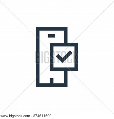 smartphone icon isolated on white background from feedback and testimonials collection. smartphone i