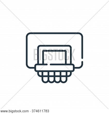 basketball icon isolated on white background from children toys collection. basketball icon trendy a