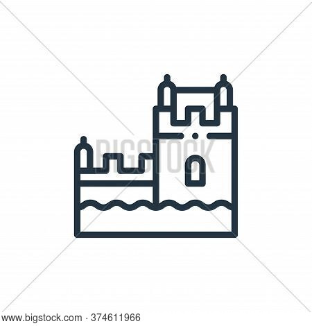belem tower icon isolated on white background from europe collection. belem tower icon trendy and mo