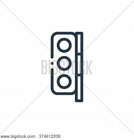 traffic light icon isolated on white background from autoracing collection. traffic light icon trend