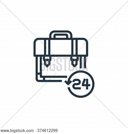 briefcase icon isolated on white background from work from home collection. briefcase icon trendy an