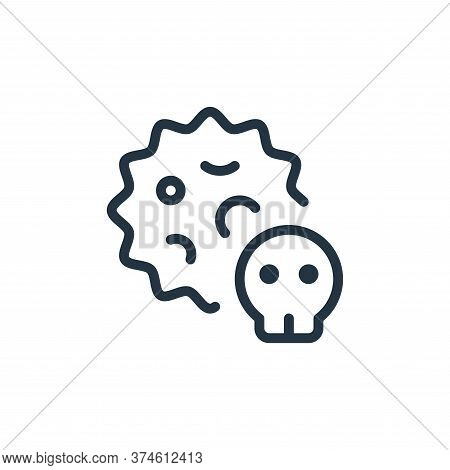 death icon isolated on white background from coronavirus collection. death icon trendy and modern de