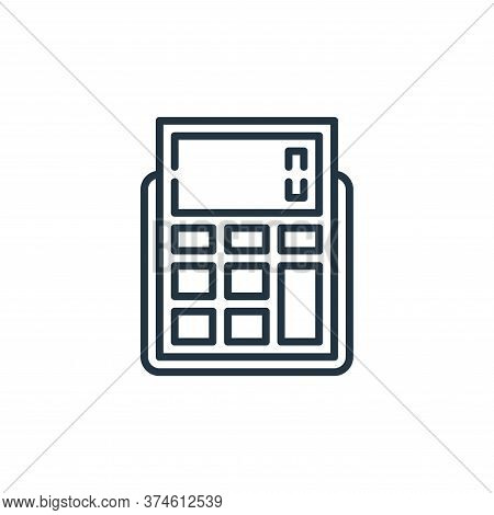 calculator icon isolated on white background from management collection. calculator icon trendy and