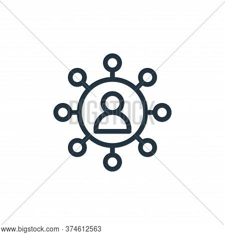 networking icon isolated on white background from business collection. networking icon trendy and mo