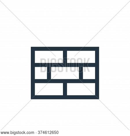 bricks icon isolated on white background from video game elements collection. bricks icon trendy and