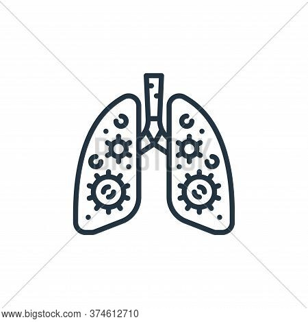 infected lungs icon isolated on white background from virus transmission collection. infected lungs