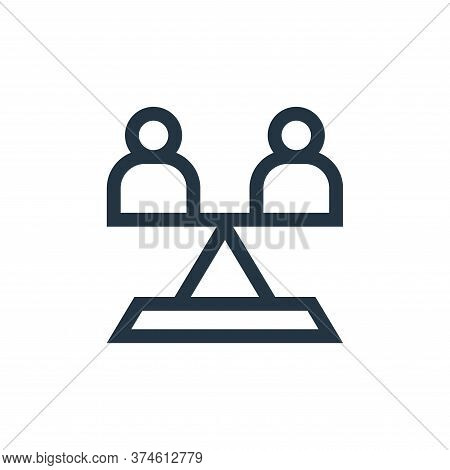 equality icon isolated on white background from charity collection. equality icon trendy and modern