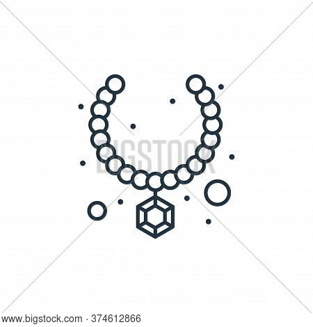 necklace icon isolated on white background from brazilian carnival collection. necklace icon trendy