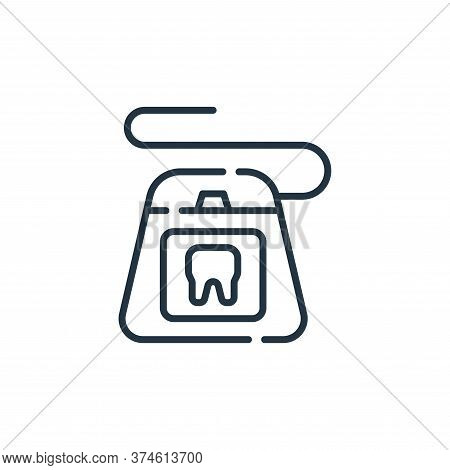 dental floss icon isolated on white background from cleaning collection. dental floss icon trendy an