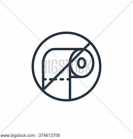 no toilet roll icon isolated on white background from self isolation collection. no toilet roll icon