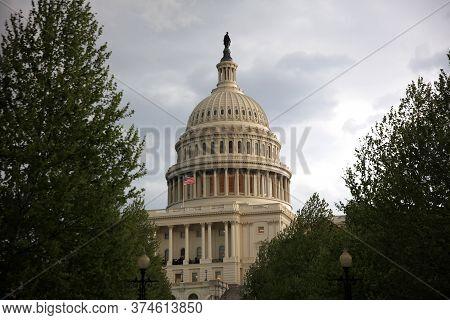 Washington Dc, Usa - May 02, 2019: United States Capitol Building In Washingon Dc. Usa