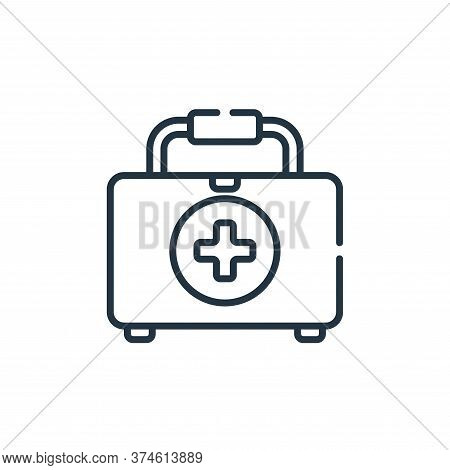 first aid kit icon isolated on white background from bathroom collection. first aid kit icon trendy