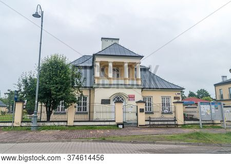 Kozienice, Poland - June 9, 2020: Public Library Of The Kozienice Commune.