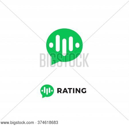 Rating Review Icon. Online Consultation App Interface Logo. Chat Bubble, Speech Balloon. Customers C
