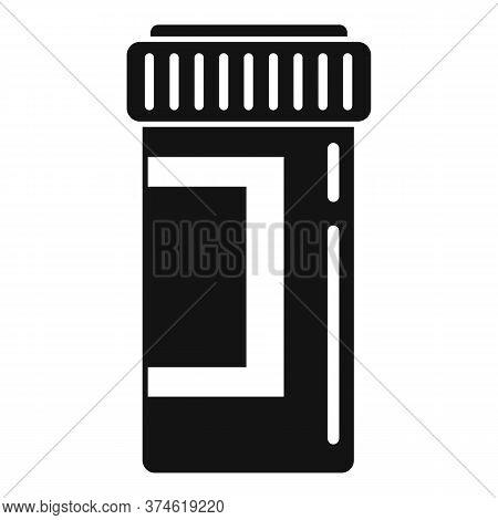 Anesthesia Pill Jar Icon. Simple Illustration Of Anesthesia Pill Jar Vector Icon For Web Design Isol