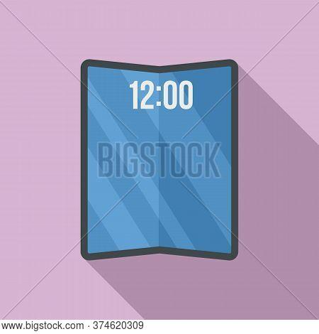 Flexible Smartphone Icon. Flat Illustration Of Flexible Smartphone Vector Icon For Web Design