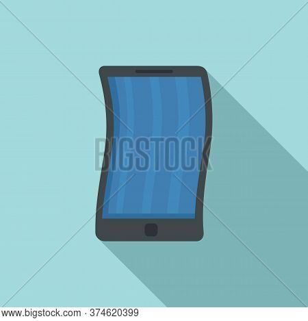 Foldable Cellphone Icon. Flat Illustration Of Foldable Cellphone Vector Icon For Web Design