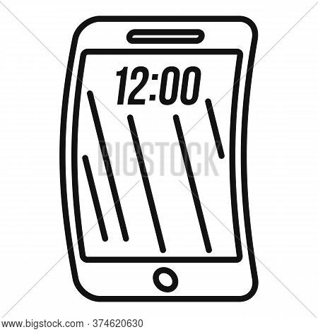 Foldable Phone Icon. Outline Foldable Phone Vector Icon For Web Design Isolated On White Background