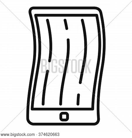 Foldable Cellphone Icon. Outline Foldable Cellphone Vector Icon For Web Design Isolated On White Bac