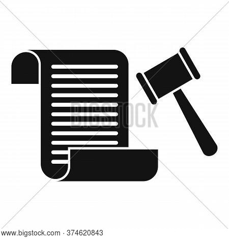 Divorce Lawsuit Icon. Simple Illustration Of Divorce Lawsuit Vector Icon For Web Design Isolated On
