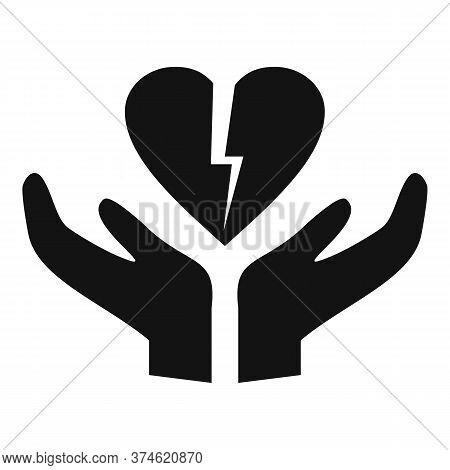 Divorce Break Heart Icon. Simple Illustration Of Divorce Break Heart Vector Icon For Web Design Isol