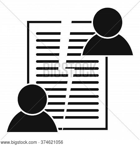 Divorce Agreement Icon. Simple Illustration Of Divorce Agreement Vector Icon For Web Design Isolated