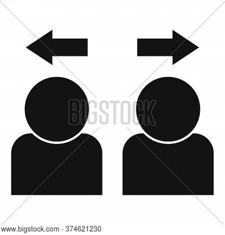 Divorce Intervention Icon. Simple Illustration Of Divorce Intervention Vector Icon For Web Design Is