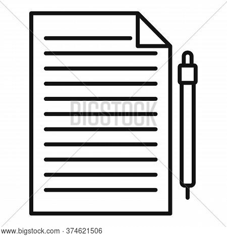 Divorce Petition Icon. Outline Divorce Petition Vector Icon For Web Design Isolated On White Backgro