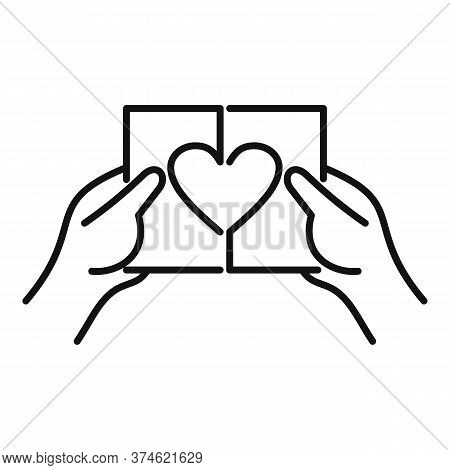 Relationship Divorce Icon. Outline Relationship Divorce Vector Icon For Web Design Isolated On White