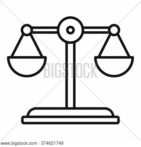 Divorce Mediation Balance Icon. Outline Divorce Mediation Balance Vector Icon For Web Design Isolate