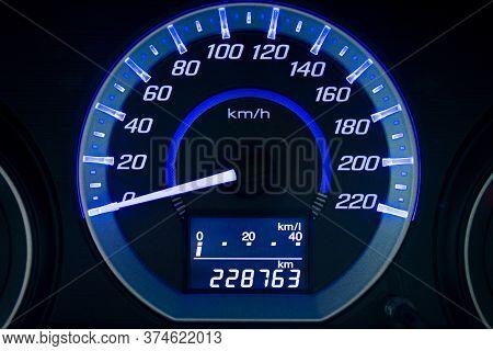 Display Large Screen Car Mileage Dashboard In Car Dashboard
