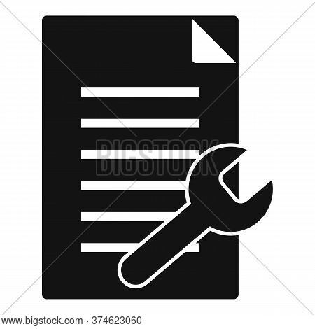Service Center Papers Icon. Simple Illustration Of Service Center Papers Vector Icon For Web Design