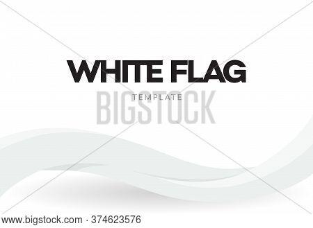 Waving Flag Banner Template. Country National Distinctive Symbol. Patriotic Ribbon Poster. Public Ho