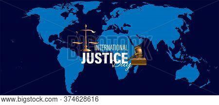 Vector Illustration For International  Justice Day Observed On July 17. Poster, Card, Or Banner Desi