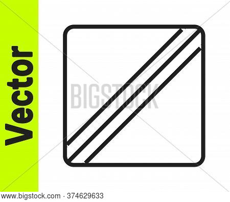 Black Line Sewing Pattern Icon Isolated On White Background. Markings For Sewing. Vector Illustratio
