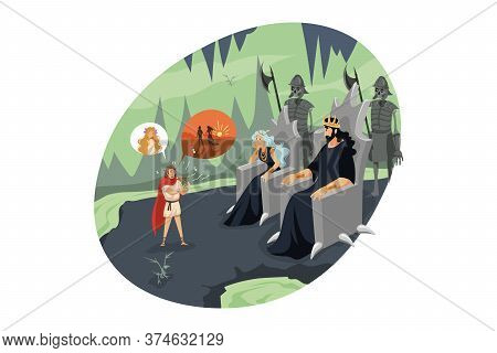 Mythology, Greece, Olympus, Legend, Religion Concept. Ancient Greek Religious Myths Illustration. Or