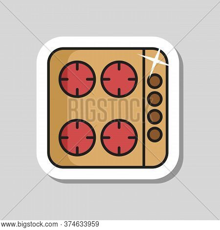 Cook Top Cooking Panel, Surface. Induction Stove Hob. Graph Symbol For Cooking Web Site Design, Logo
