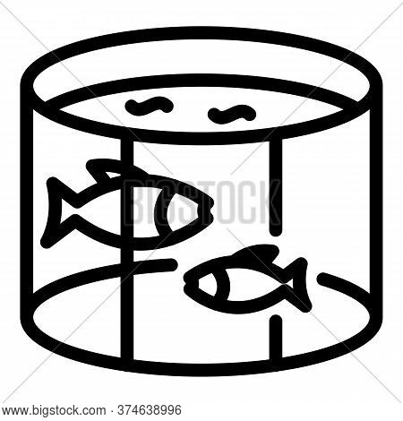 Fish Farm Pool Icon. Outline Fish Farm Pool Vector Icon For Web Design Isolated On White Background