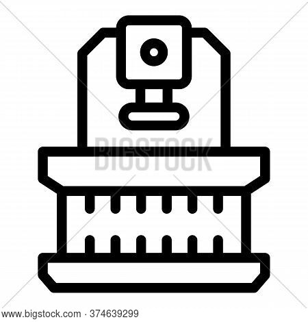 Lathe Press Icon. Outline Lathe Press Vector Icon For Web Design Isolated On White Background