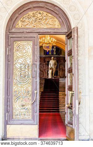 Gori, Georgia - June 14, 2016: Opened Door Of The Stalin Museum