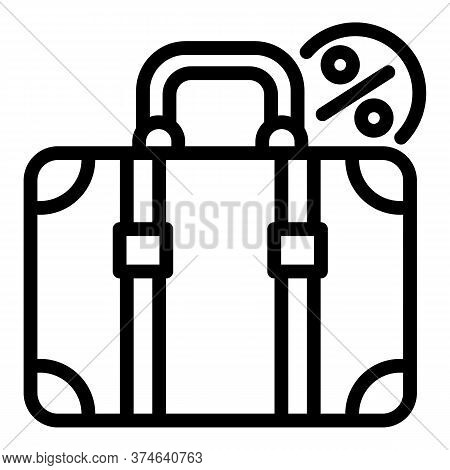 Travel Suitcase Icon. Outline Travel Suitcase Vector Icon For Web Design Isolated On White Backgroun