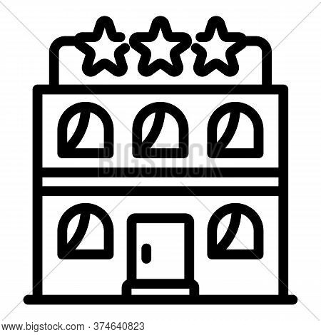 Tourism Hotel Star Icon. Outline Tourism Hotel Star Vector Icon For Web Design Isolated On White Bac