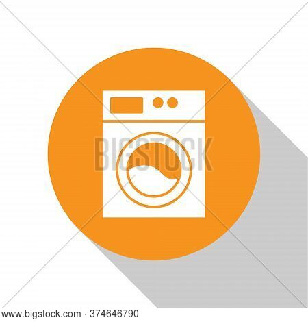 White Washer Icon Isolated On White Background. Washing Machine Icon. Clothes Washer - Laundry Machi