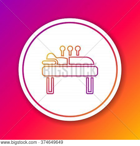 Color Line Acupuncture Therapy Icon Isolated On Color Background. Chinese Medicine. Holistic Pain Ma