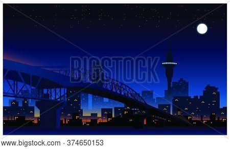 A Scenic Vista Of Auckland City Skyline