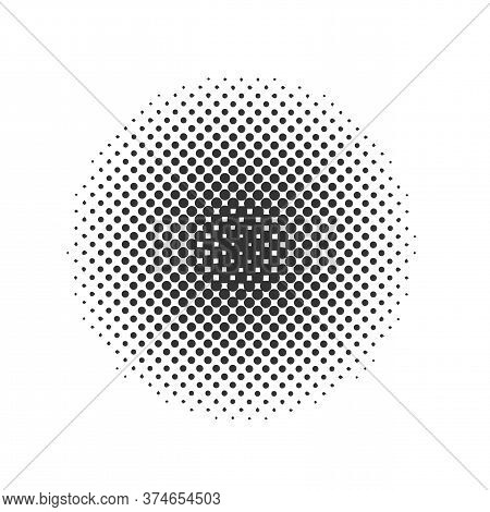 Black Halftone Dots Backgrounds. On Transparent Background Vector Eps10
