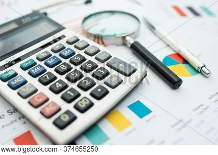 Calculator On Chart And Graph Spreadsheet Paper. Finance Development, Banking Account, Statistics, I