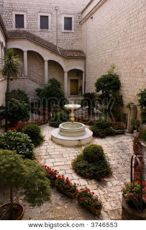 Garden In A Courtyard